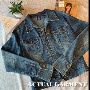 So... GSJC Jackets & Coats - Denim Jacket / Jean Jacket w/Slight Flared Cuffs
